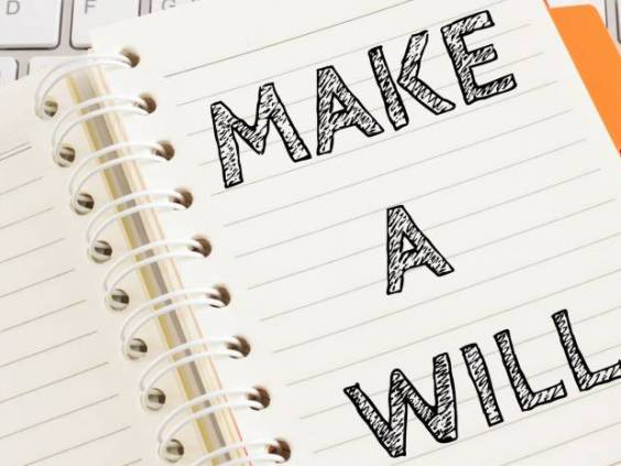 Word text Make a will on white paper on office table / business concept