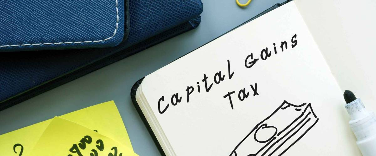 Business concept about Capital Gains Tax with phrase on the page.