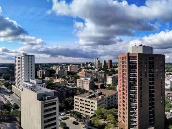 Winnipeg Canada downtown view summertime