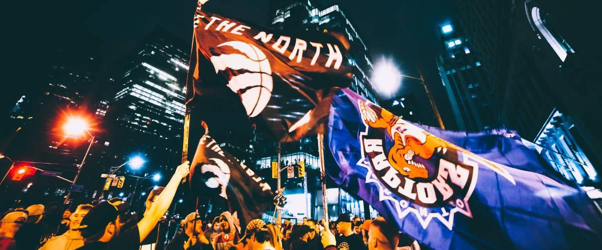 Raptors victory celebration downtown