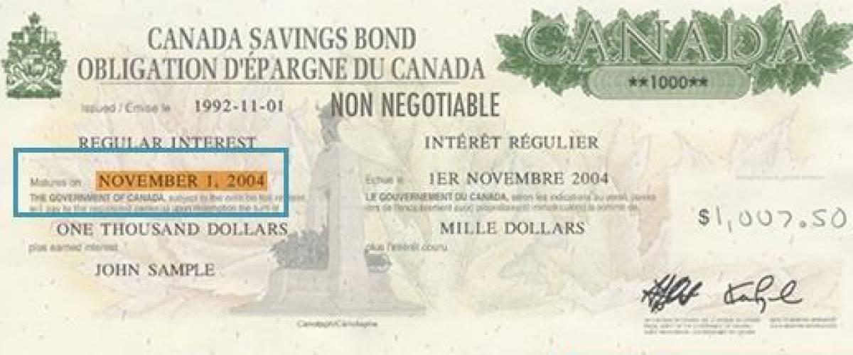 A Canada Savings Bond certificate