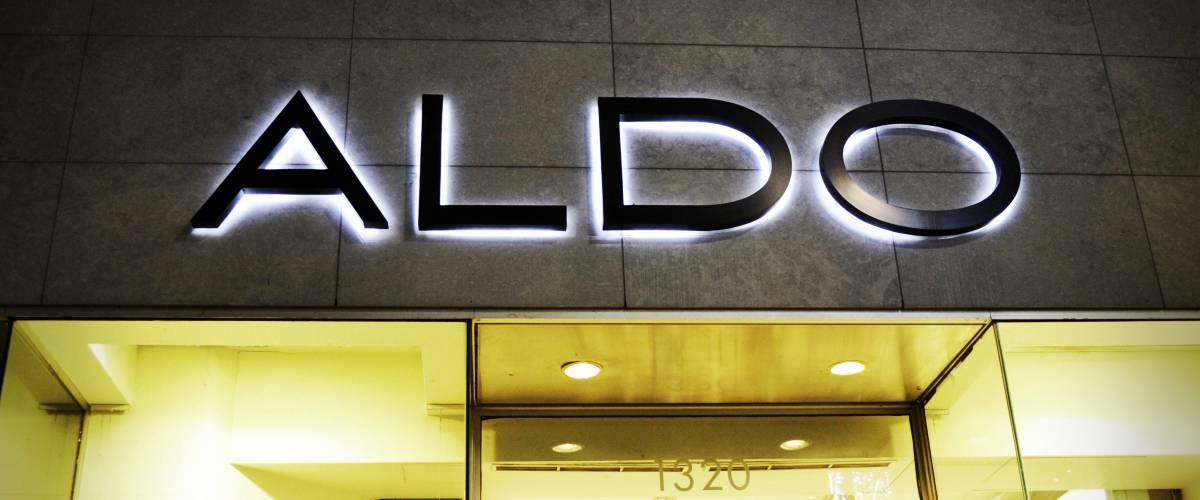 ALDO store sign