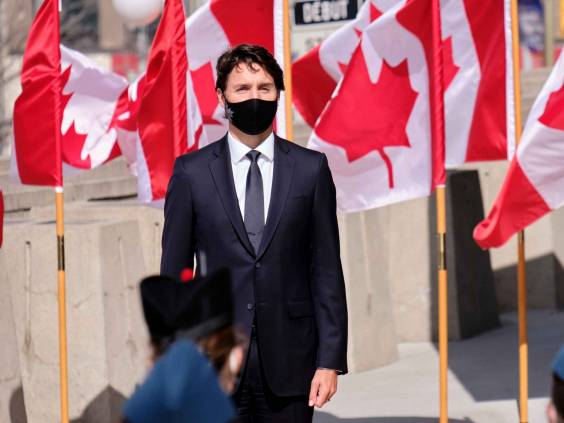 Ottawa, Canada. September 23rd, 2020. Canadian Prime Minister, Justin Trudeau arrives at the Canadian Senate for the Speech of the Throne.