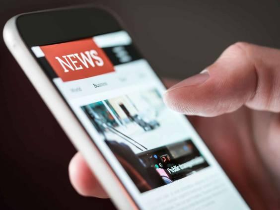 News on a smartphone.