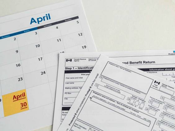 April 30 - Canada Tax Day . Deadline to sub,it Personal Income Tax Returns