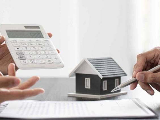 Real estate agent talked about the terms of the home purchase agreement and asked the customer to sign the documents to make the contract legally, Home sales and home insurance concept.