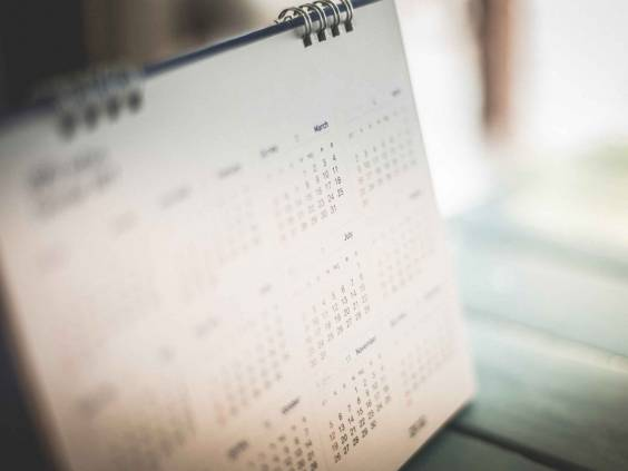 Blurred calendar page dark tone
