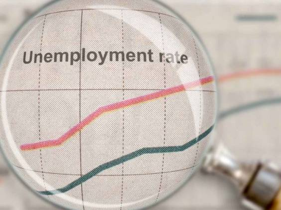 Unemployment rate under the glass