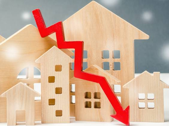 Plunging prices for real estate