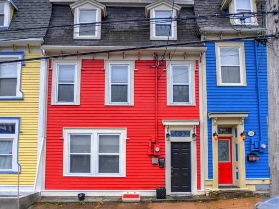 The exterior of a row house in St. John's, NL