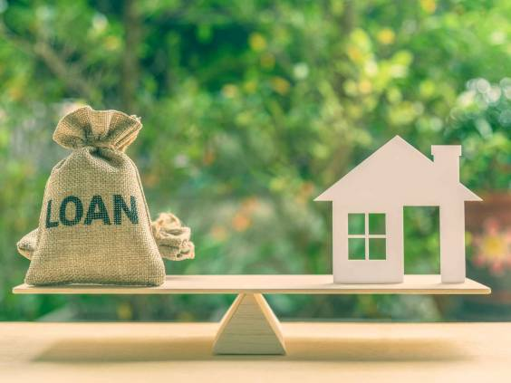 Home loan, reverse mortgage and saving for a real estate concept