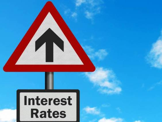 Interest rates sign