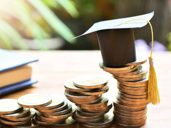 hat graduation model on coins