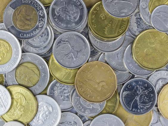 A pile of Canadian Change