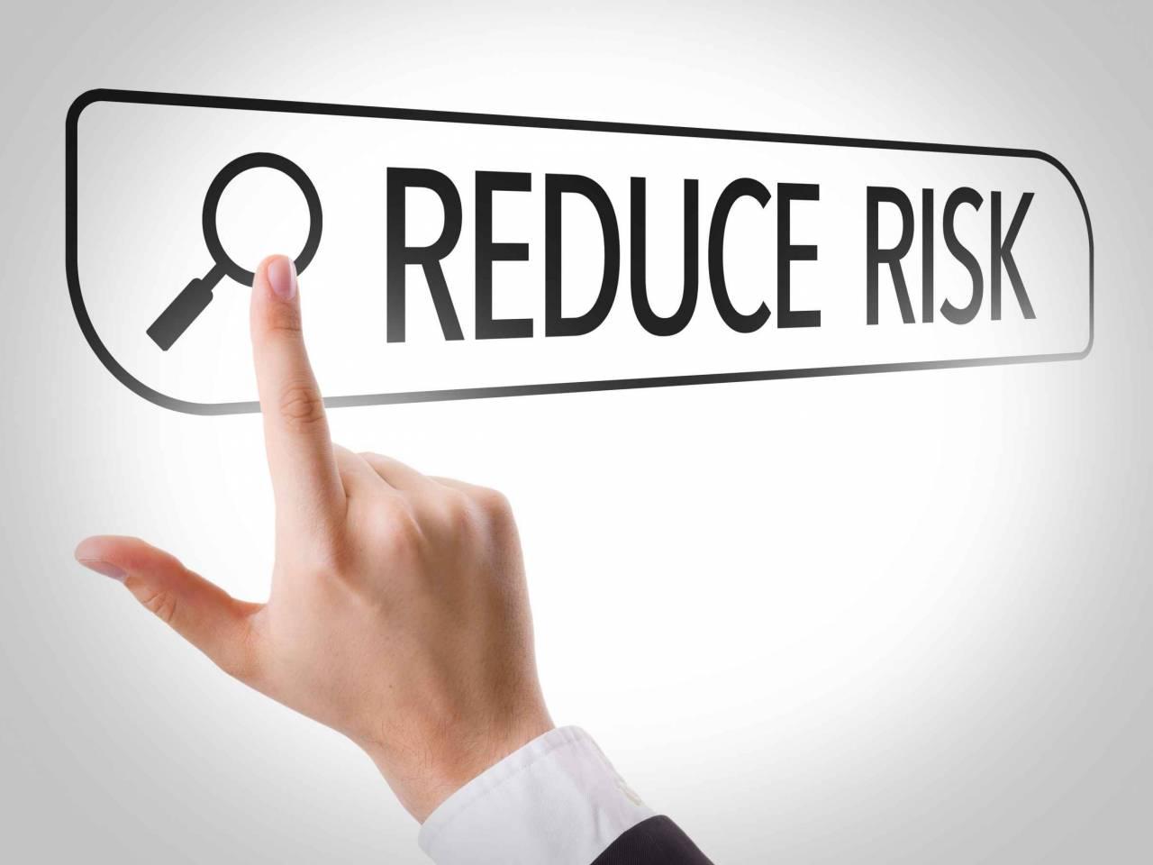 Reduce Risk written in search bar on virtual screen