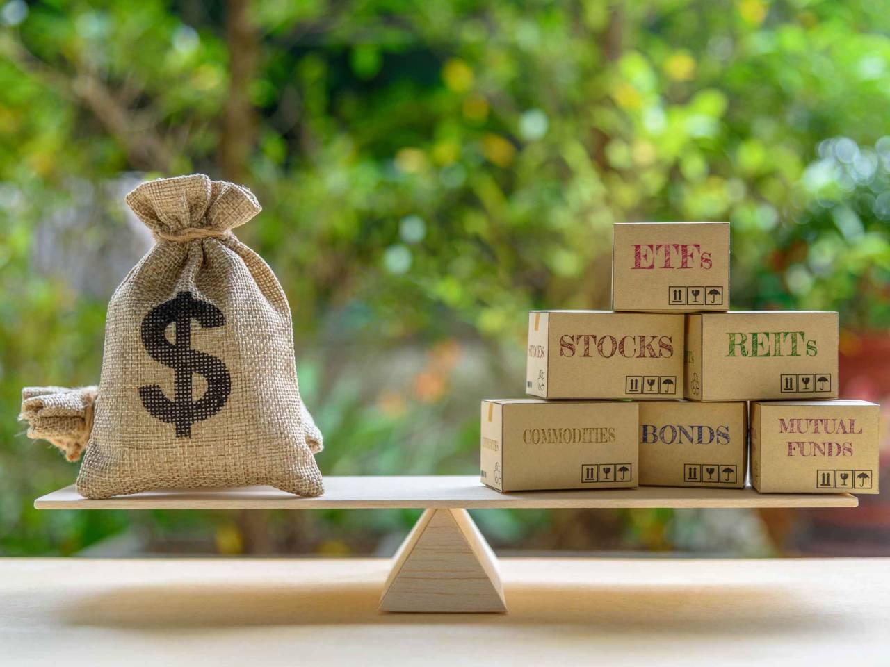 Portfolio management and asset allocation concept
