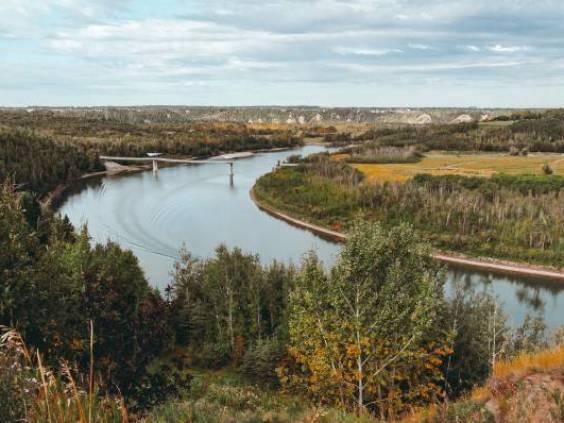 Field and stream in Edmonton