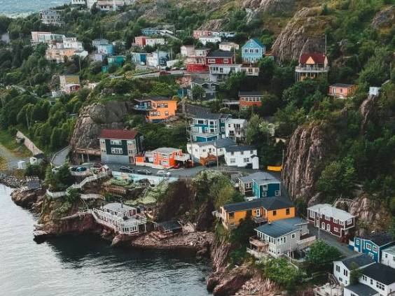 Houses on the water in Newfoundland