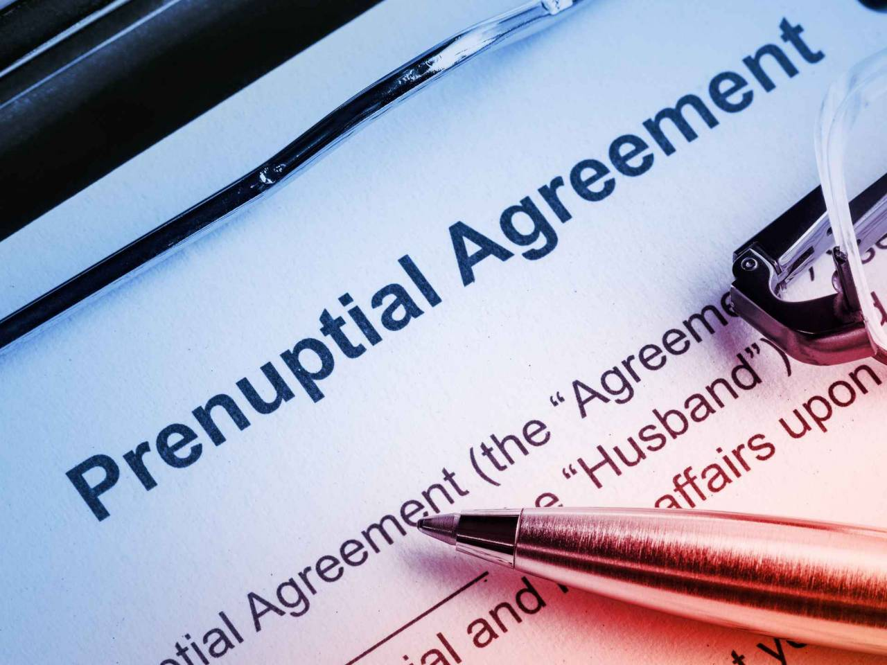 prenuptial agreement papers