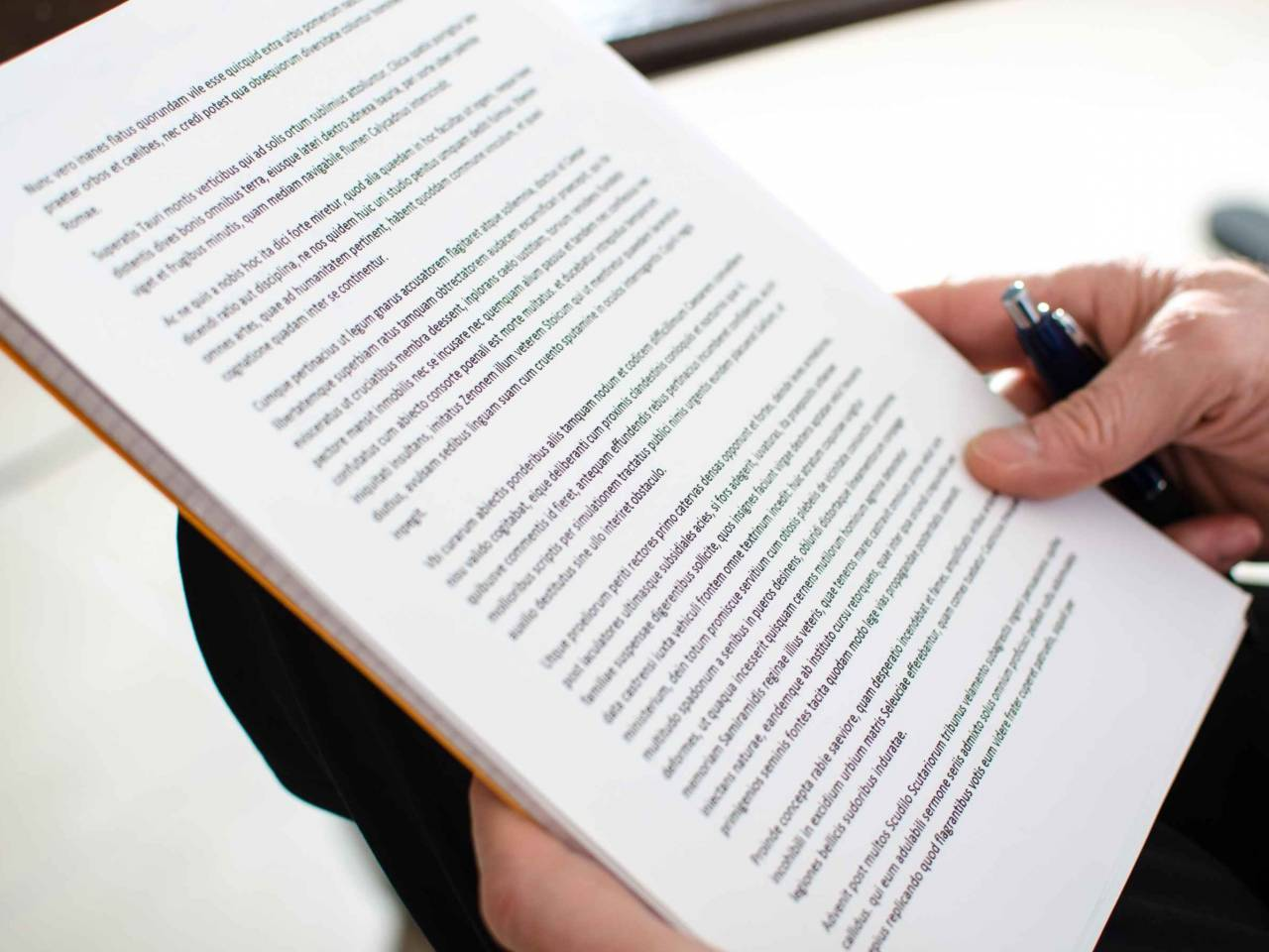 Personal reading legal document