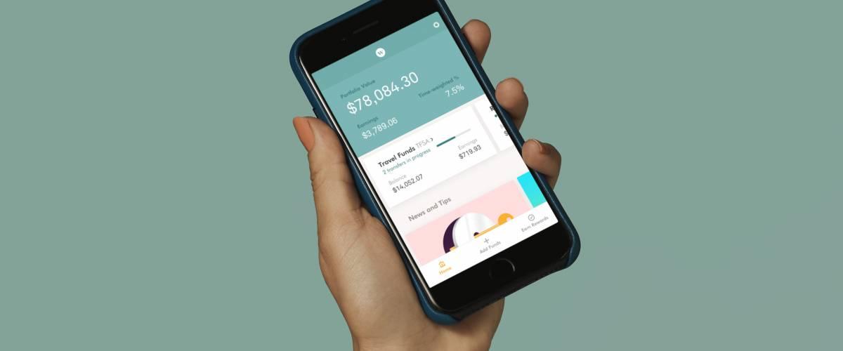 Customer using the Wealthsimple app