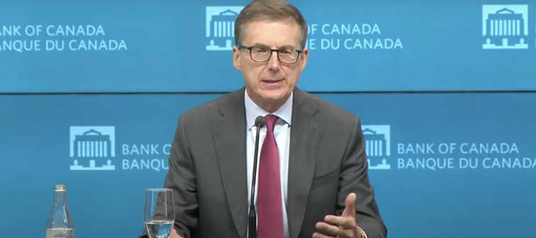 Bank of Canada Governor Tiff Macklem speaks at press conference
